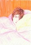 """""""Tony (November)"""" (1999, lápices de colores sobre papel, 22.2 x 15.2 cm, Colección privada, Nueva York), de Elizabeth Peyton."""