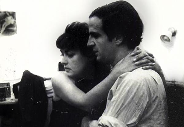 Fotografía de la filmación de la película francesa La novia vestía de negro (The Bride Wore Black, 1968). La actriz Jeanne Moreau y el director de la película François Truffaut.
