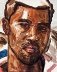 """""""Kanye"""" (2010-2011, oleo sobre tabla cubierta de lino, 38.1 x 31.1 cm), de Elizabeth Peyton."""