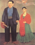 """Frida Kahlo y Diego Rivera"" (1931, óleo sobre lienzo, 100 x 79 cm, San Francisco, Museum of Modern Art), de Frida Kahlo."